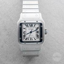 Cartier Santos Galbée Сталь 32mm Белый Римские