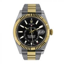 Rolex Sky-Dweller Gold/Steel 42mm Black No numerals United States of America, New York, NEW YORK