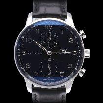 IWC Portugieser Chronograph IW371447 Sehr gut Stahl 41mm Automatik
