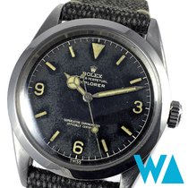 Rolex Explorer Stahl 36mm Schwarz Arabisch