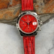 Tudor Tiger Prince Date pre-owned 40mm Red Chronograph Date Tachymeter Leather
