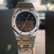 Audemars Piguet Royal Oak tweedehands 30mm Zwart Staal