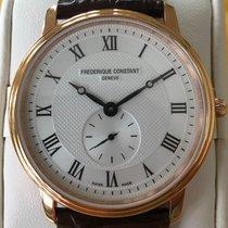 Frederique Constant Slimline Gents Gold/Steel 37mm Silver Roman numerals