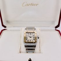 Cartier Santos Galbée pre-owned 29mm Silver Date Gold/Steel