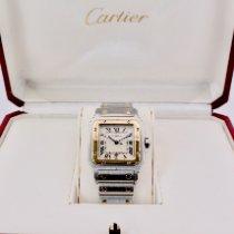 Cartier Santos Galbée 187901 Mycket bra Guld/Stål 29mm Kvarts