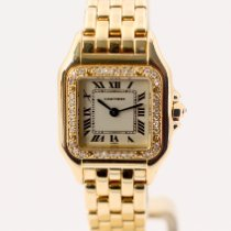 Cartier Panthère Zuto zlato 22mm Boja šampanjca Rimski brojevi