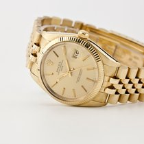 Rolex Oyster Perpetual Date pre-owned 34mm Gold Date
