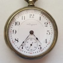 Elgin Argent 54mm Remontage manuel Vintage Early 1900's Elgin Silver Pocket Watch, 17 Jewel, Signed B. W. Raymond, Chronograph, 54mm Case, Very Good Condition, Screw Back occasion
