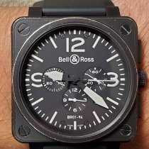 Bell & Ross BR 01-94 Chronographe Steel 46mm Black Arabic numerals United States of America, Texas, Houston