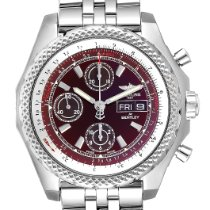 Breitling Bentley GT pre-owned 45mm Red Chronograph Date Steel