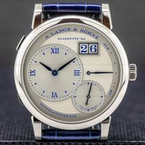 A. Lange & Söhne Lange 1 White gold 38.5mm Silver Roman numerals United States of America, Massachusetts, Boston