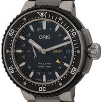 Oris ProDiver GMT pre-owned 49mm Black Date GMT Fold clasp