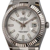 Rolex Datejust II Acier 41mm Blanc