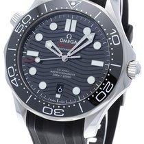 Omega Seamaster Diver 300 M Сталь 42mm Чёрный Без цифр