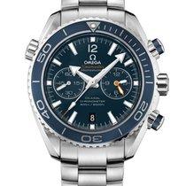 Omega Seamaster Planet Ocean Chronograph Titane 45.5mm Bleu Sans chiffres