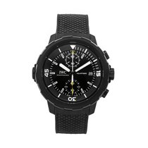 IWC Aquatimer Chronograph pre-owned 45mm Black Chronograph Date Rubber