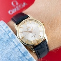 Omega Constellation Gold/Steel 35mm Champagne No numerals