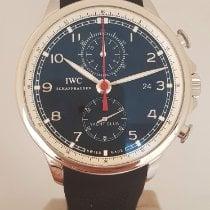 IWC Portuguese Yacht Club Chronograph Steel 43,5mm Black Arabic numerals