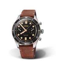 Oris Divers Sixty Five Steel Black No numerals