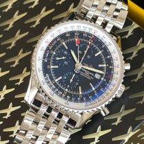 Breitling Navitimer World Steel 46mm Black Arabic numerals