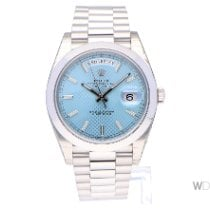 Rolex Day-Date 40 Platinum 40mm Blue No numerals