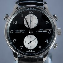 IWC Portuguese Chronograph Or blanc 41mm Noir Arabes