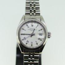 Rolex Oyster Perpetual Lady Date Stal 26mm Biały Rzymskie