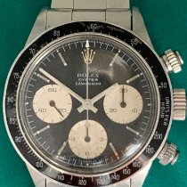 Rolex Steel Manual winding Black No numerals 37mm pre-owned Daytona