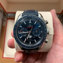 Omega Speedmaster Professional Moonwatch Moonphase Çelik Mavi Rakamsız