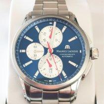 Maurice Lacroix Pontos Chronographe folosit 43mm Albastru Cronograf Data Otel