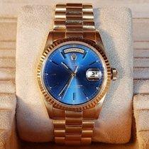 Rolex Day-Date 36 usados 36mm Azul Fecha Oro amarillo