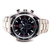 Omega Seamaster Planet Ocean Chronograph Staal Zwart Arabisch