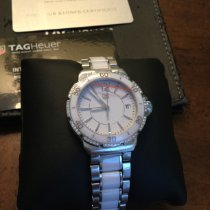 TAG Heuer Formula 1 Lady pre-owned 37mm White Chronograph Weekday Ceramic