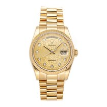 Rolex Day-Date 36 Yellow gold 36mm Champagne No numerals United States of America, Pennsylvania, Bala Cynwyd