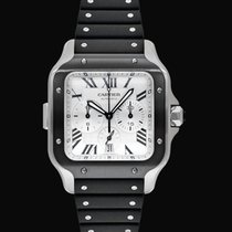 Cartier Santos (submodel) Steel 43.3mm Silver United States of America, California, Burlingame