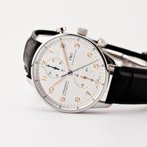 IWC Portuguese Chronograph Stål Silver Arabiska