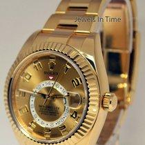勞力士 Sky-Dweller 黃金 42mm 香檳色 阿拉伯數字