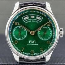 IWC Portuguese Annual Calendar Сталь 44.2mm Зелёный Aрабские