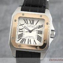 Cartier 2878 Gold/Stahl 2005 Santos 100 33mm gebraucht Deutschland, Chemnitz