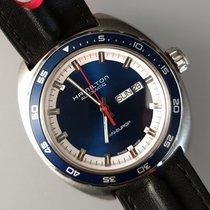 Hamilton Pan Europ Steel 42mm Blue No numerals