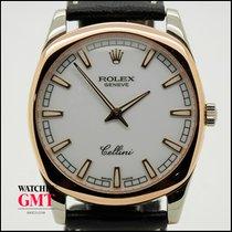 Rolex Cellini Danaos Bílé zlato 38mm Perleťová Bez čísel