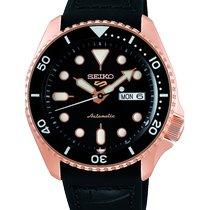 Seiko 5 Sports Gold/Steel 42.5mm Black No numerals