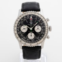 Breitling Navitimer pre-owned 40mm Black Chronograph Leather