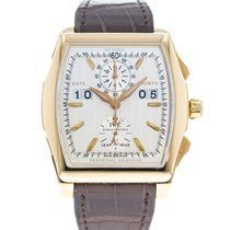 IWC Da Vinci Perpetual Calendar pre-owned 43mm Silver Perpetual calendar Leather
