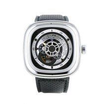Sevenfriday P1B-1 pre-owned 47mm Transparent Leather