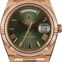 Rolex Day-Date 40 nuevo Automático Reloj con estuche y documentos originales 228235