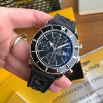 Breitling Superocean Héritage Chronograph Stahl 46mm Schwarz Keine Ziffern