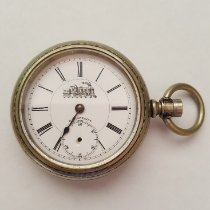마빈 은 57mm 수동감기 Vintage Silver RR Special Pocket Watch, Chronograph, 57 mm Case, Railroad Design, Marvin Watch Company, 1900's, White Face, 17 Jewel 중고시계