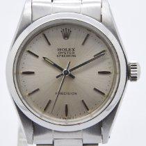 Rolex Oyster Precision Staal 31mm Zilver Geen cijfers