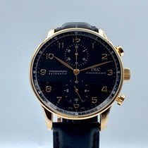 IWC Portuguese Chronograph Or rose 41mm Noir Arabes